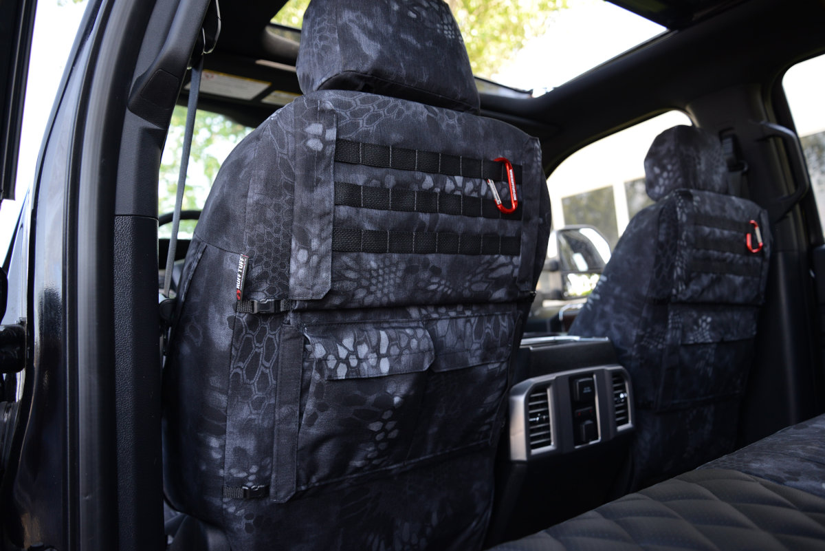 2018 Ford F-250 custom seat covers with Special OPS Package