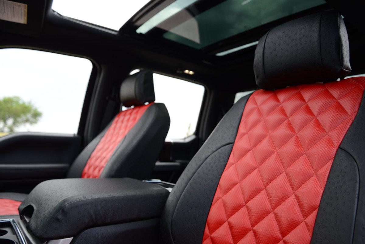 Ford F-350 custom seat covers